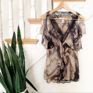 Diane Von Furstenberg 100% silk patterned top 8